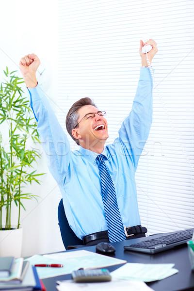 Happy businessman Stock photo © Kurhan
