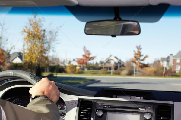 Foto d'archivio: Mano · uomo · guida · strada · driver · assicurazione
