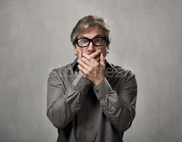 человека лице удивленный зрелый Сток-фото © Kurhan