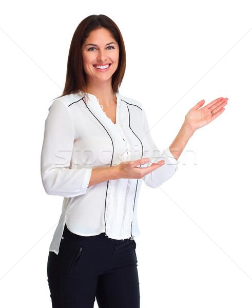 Business woman presenter Stock photo © Kurhan