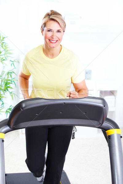 Senior woman doing exercise. Stock photo © Kurhan