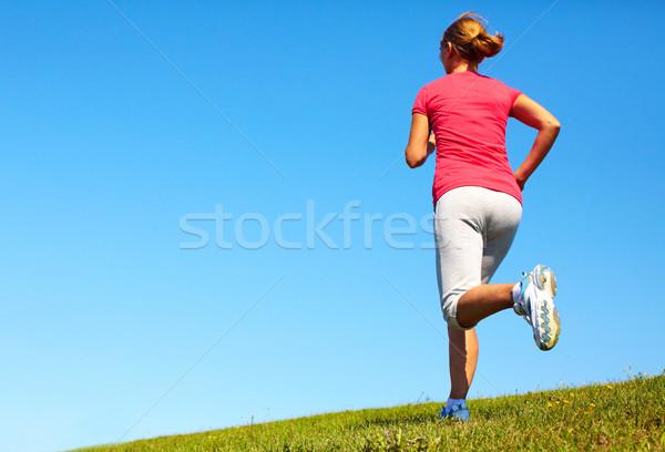 бег женщину парка здоровья фитнес Сток-фото © Kurhan