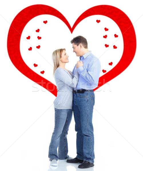Coppia amore isolato bianco san valentino donna Foto d'archivio © Kurhan