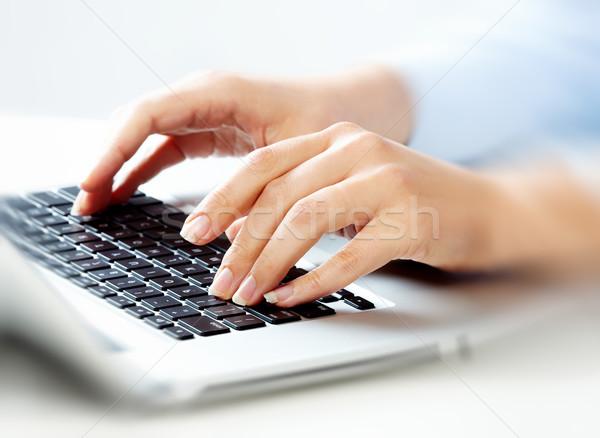 Hands with laptop computer keyboard. Stock photo © Kurhan