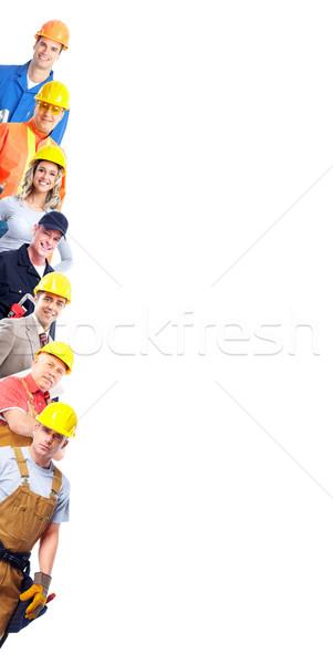 Construction workers group. Stock photo © Kurhan