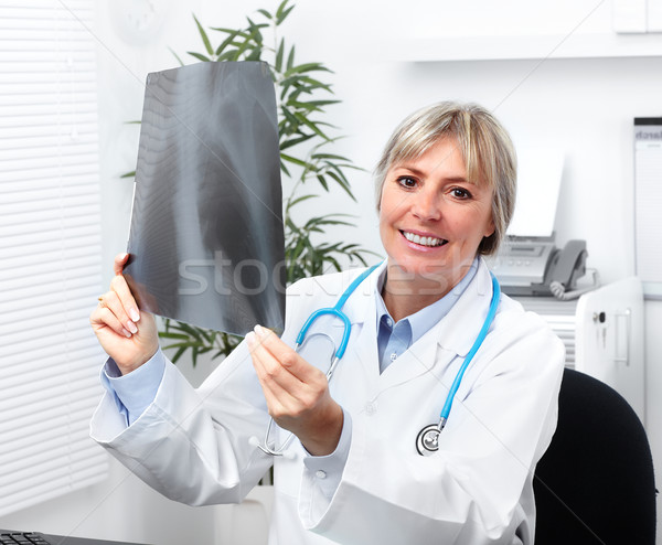 Mature medical doctor woman. Stock photo © Kurhan