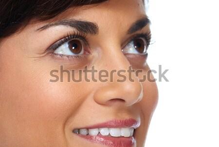 Piękna kobieta twarz odizolowany biały działalności kobieta Zdjęcia stock © Kurhan