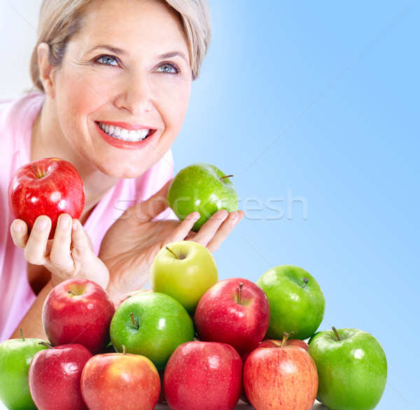 Woman with apples Stock photo © Kurhan