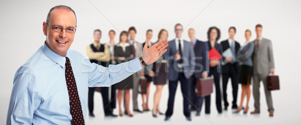 Inviting businessman. Stock photo © Kurhan