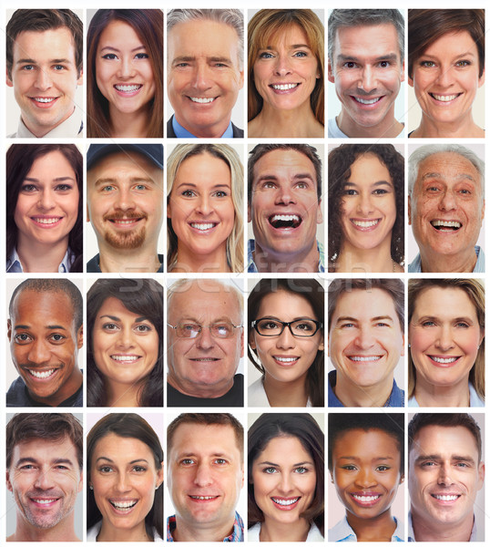 people faces collection Stock photo © Kurhan