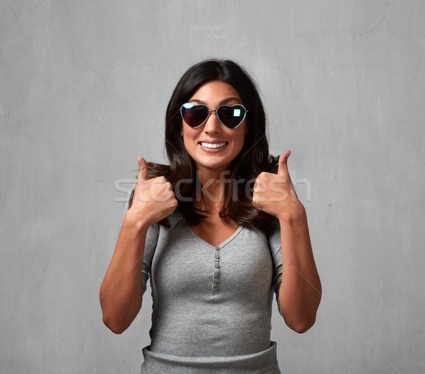 Happy girl portrait. Stock photo © Kurhan