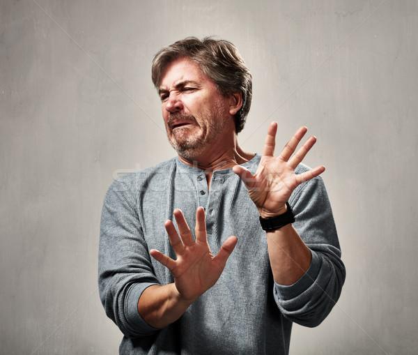 Awful man expression Stock photo © Kurhan