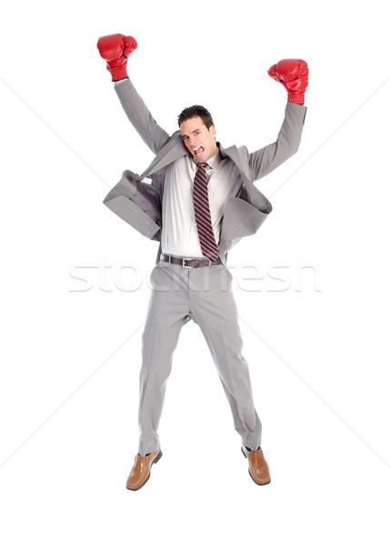 Businessman boxer Stock photo © Kurhan