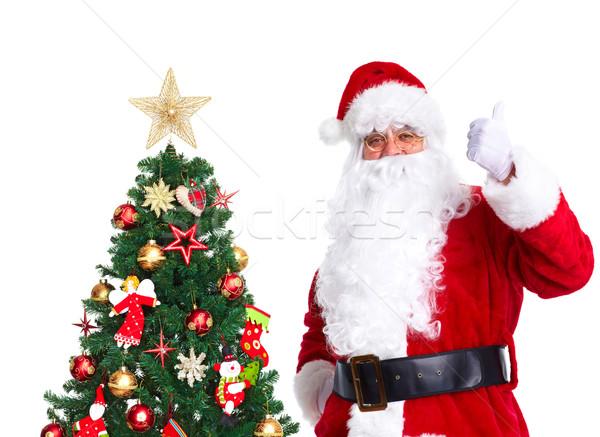 Santa Claus and Christmas Tree. Stock photo © Kurhan