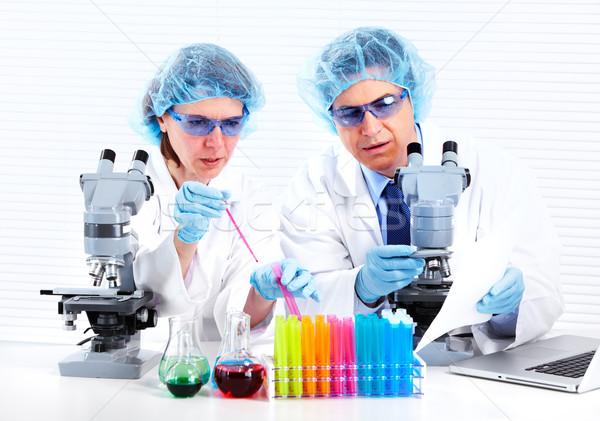 Stok fotoğraf: Bilimsel · laboratuvar · işçiler · tıbbi · araştırma · çalışmak