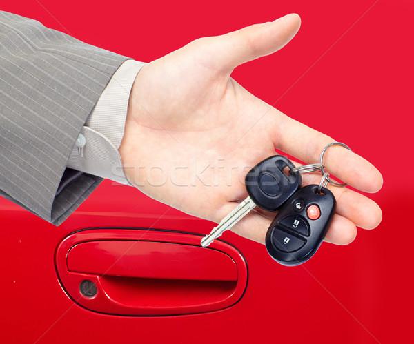 Clés de voiture Auto voiture main clé Photo stock © Kurhan