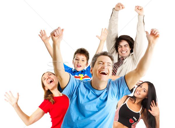 Stock photo: Happy funny people
