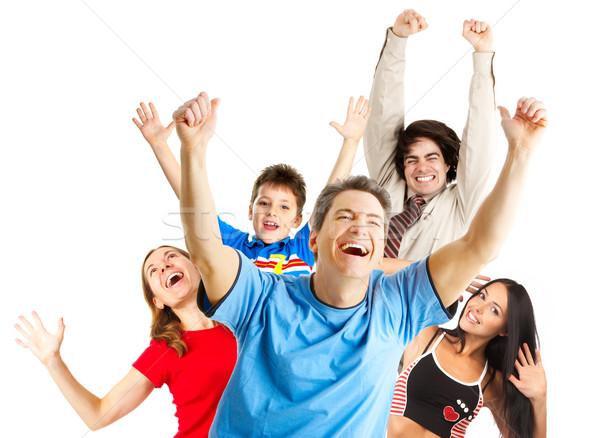 Happy funny people Stock photo © Kurhan