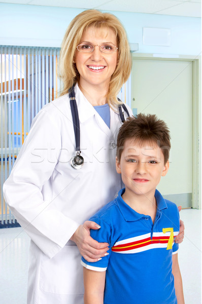 family medical doctor and a child Stock photo © Kurhan