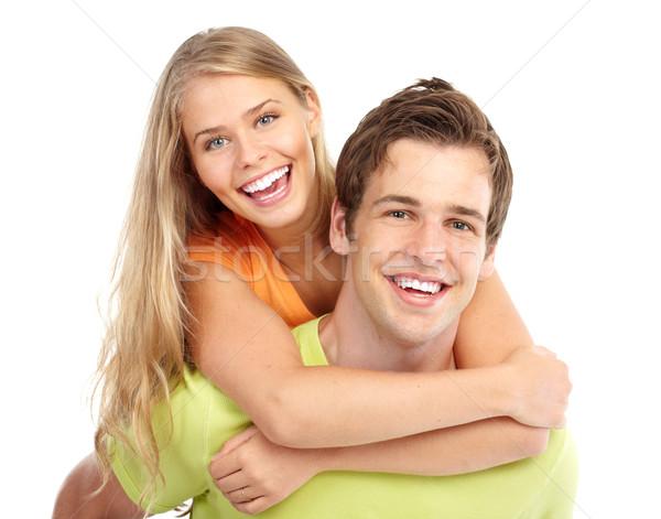 Coppia amore felice sorridere bianco ragazza Foto d'archivio © Kurhan