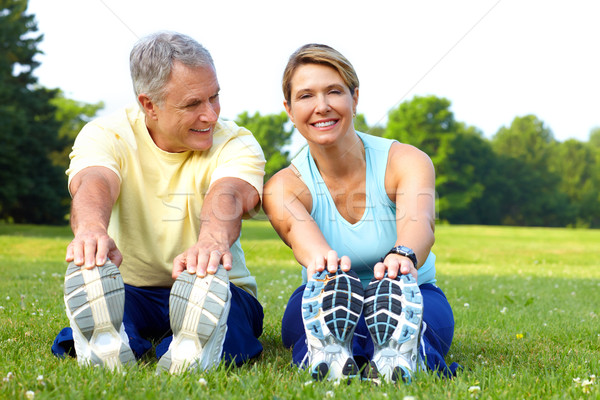 seniors fitness Stock photo © Kurhan