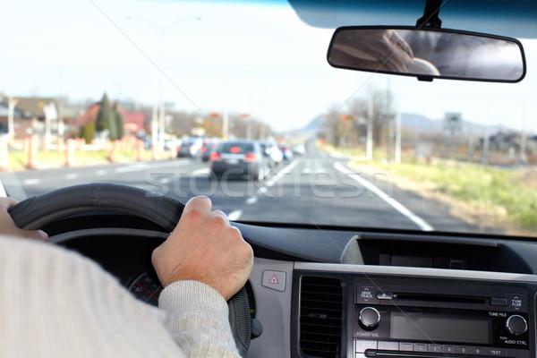Man driving on a highway. Stock photo © Kurhan