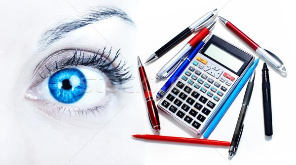 Kobieta oka piękna kobieta działalności biuro oczy Zdjęcia stock © Kurhan