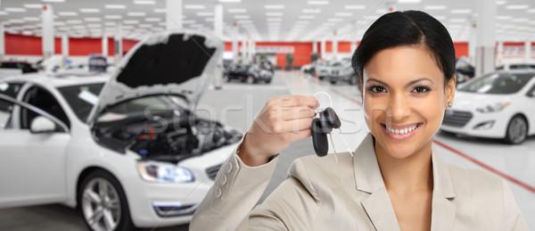 Mujer clave auto Foto stock © Kurhan