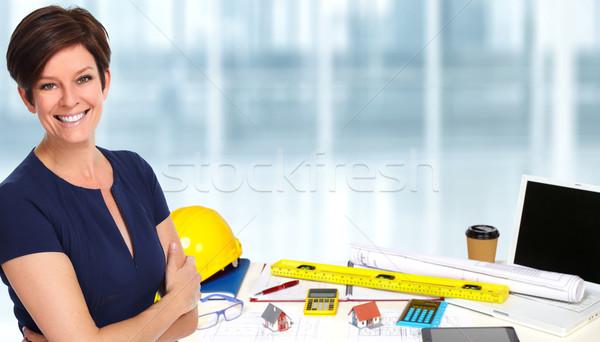 Stock photo: Beautiful business woman.