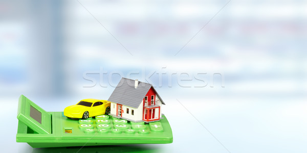House with car and calculator. Stock photo © Kurhan