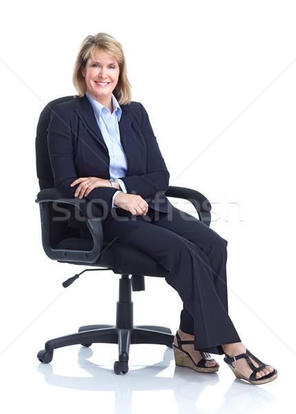 ビジネス女性 成熟した 孤立した 白 ビジネス 作業 ストックフォト © Kurhan