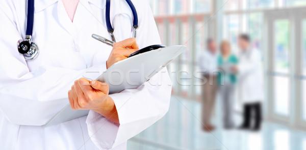 Сток-фото: рук · медицинской · врач · Дать · бизнеса