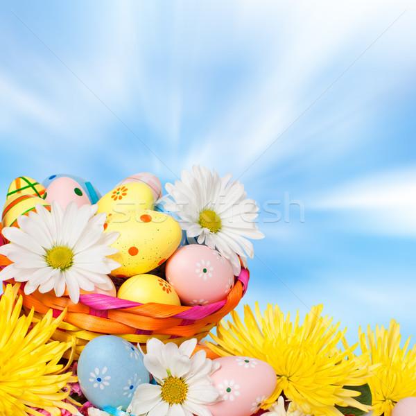 Ovos de páscoa belo primavera páscoa festa natureza Foto stock © Kurhan