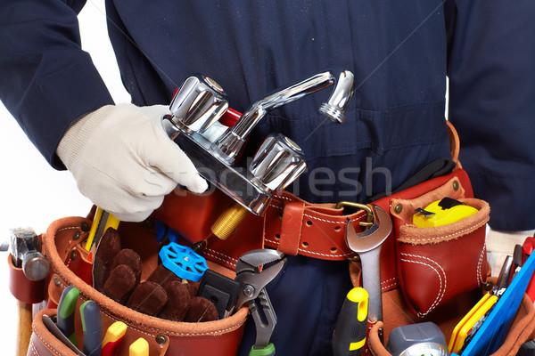 Plumber with a tool belt. Stock photo © Kurhan