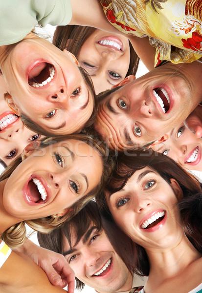 Pessoas felizes feliz sorridente jovens família festa Foto stock © Kurhan