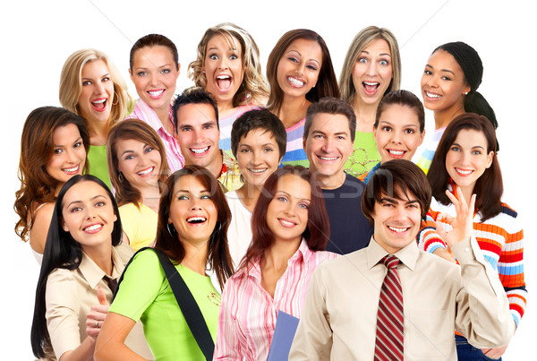Stock photo: Happy smiling people