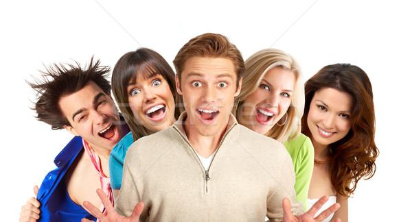 Boldog emberek fiatal mosolyog fehér család férfi Stock fotó © Kurhan