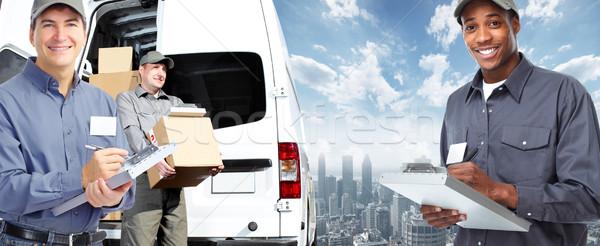 Briefträger Lieferung Versandkosten Mann Arbeit LKW Stock foto © Kurhan