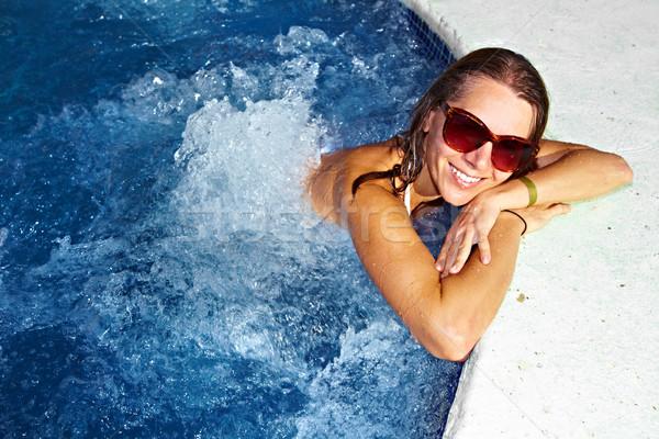 女性 ジャグジー 美少女 リラックス スパ 健康 ストックフォト © Kurhan