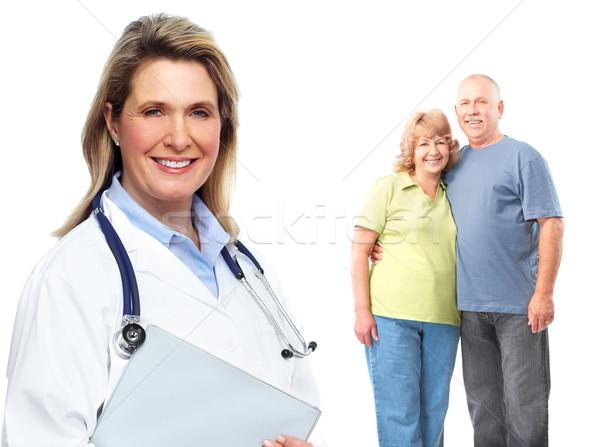 Stockfoto: Medische · familie · arts · geïsoleerd · witte · vrouw