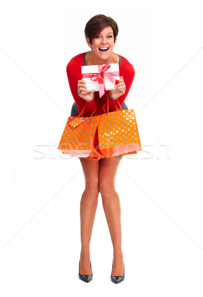 Happy shopping woman. Stock photo © Kurhan