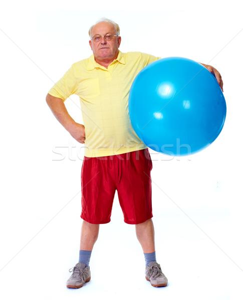 Balance Ball Xxl: Idoso · Homem · Exercer · Bola · Esportes · Saúde