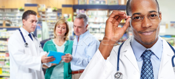 Stock photo: African-american doctor man.