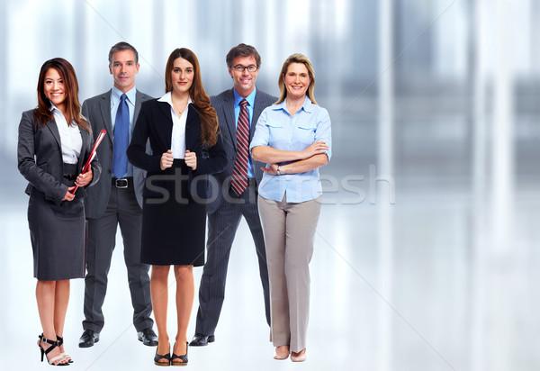 бизнес-команды группа молодые деловые люди синий служба Сток-фото © Kurhan