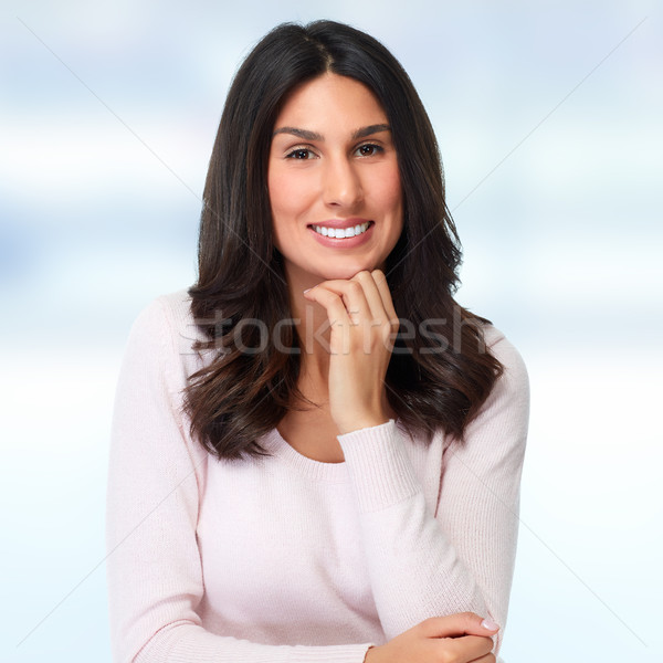 Smiling girl portrait. Stock photo © Kurhan