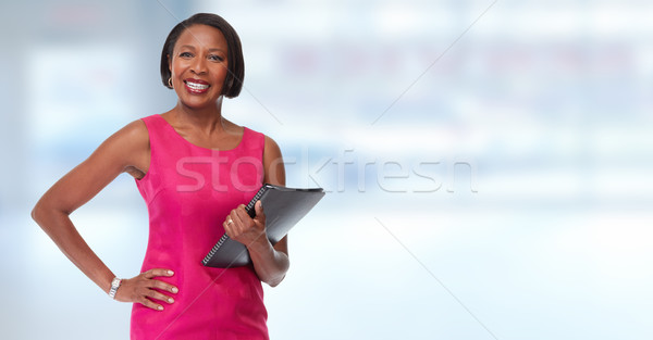African-American business woman. Stock photo © Kurhan