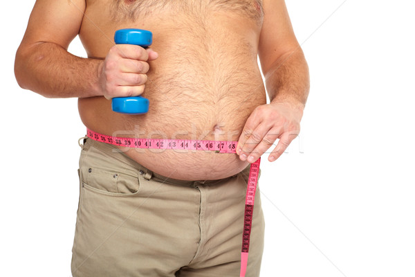 Grubas duży brzuch Zdjęcia stock © Kurhan