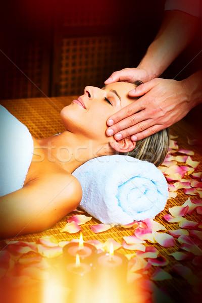 Twarz masażu piękna kobieta kobieta ciało Zdjęcia stock © Kurhan