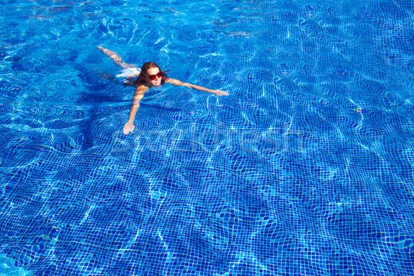 Beautiful woman in pool Stock photo © Kurhan