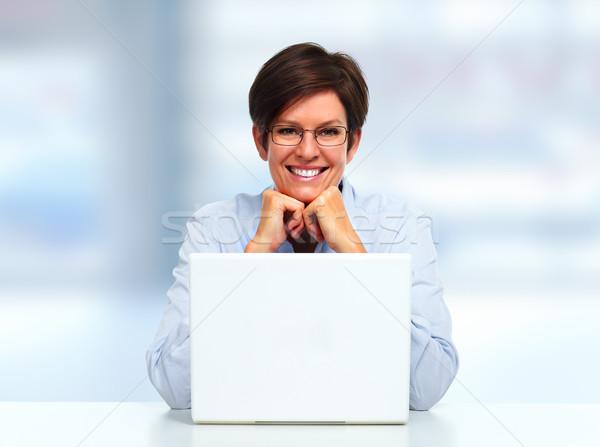 Woman with laptop computer. Stock photo © Kurhan